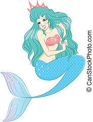 prinsesje, mermaid