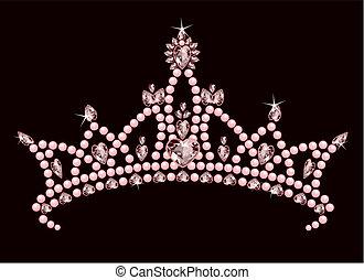 prinsessa, krona
