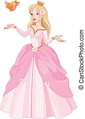 prinsessa, och, fågel