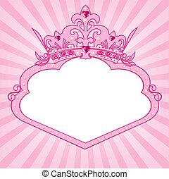 prinsesse, krone indramm