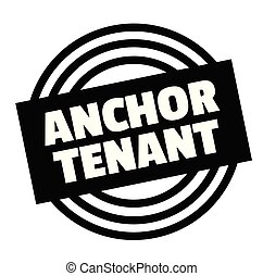 Print anchor tenant stamp on white background. Labels and stickers series.