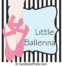 Print - ballet shoes background, illustration in vector...