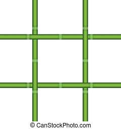 Print - bamboo square vector design