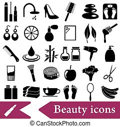 Print - beauty theme big set of various icons eps10