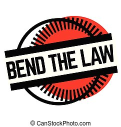 Print bend the law stamp on white