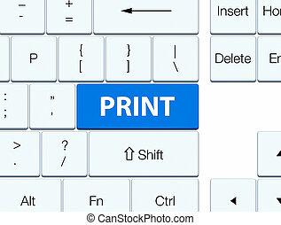 Print blue keyboard button