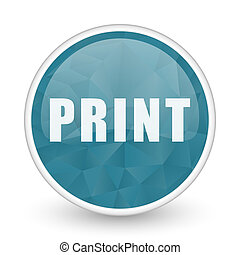 Print brillant crystal design round blue web icon.