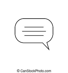 Print Bubble speech icon vector isolated on white background