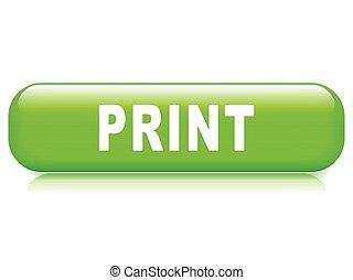 print button on white background