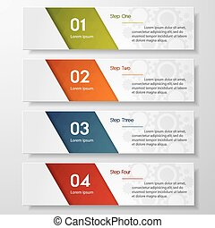 Print - Design clean number banners template/graphic or ...