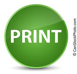Print elegant soft green round button