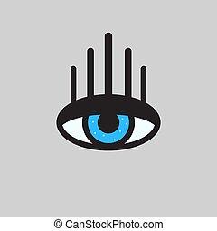 Print eyes with long eyelashes