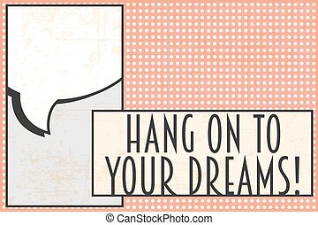 Print - your dreams background, illusration in vector format