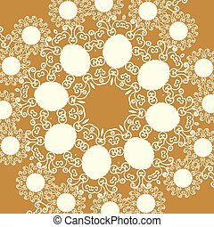 Print in oriental style of light brown sepia color tone
