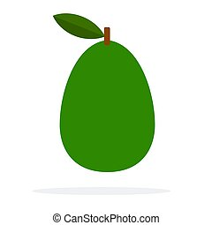 Print - Intact avocado vector flat material design isolated ...
