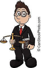 Lawyer cartoon illustration design