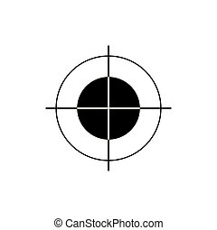 Print marker or Crosshair sign icon. Target aim symbol. Vector Black flat icons on white background.