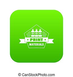 Print materials icon green
