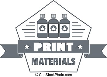 Print materials logo, simple style - Print materials logo....