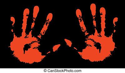 print of my hands