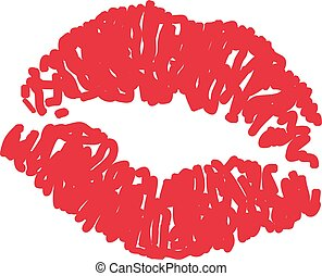 Print of red lips