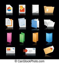 Print & Office Icons / / Black Back