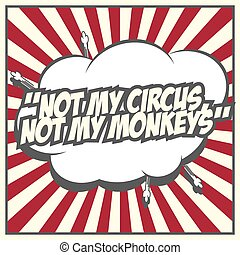 pop art quote, illustration in vector format