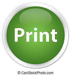 Print premium soft green round button