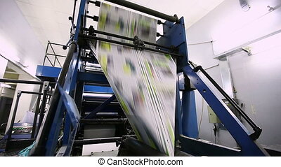 print press typoghraphy in work