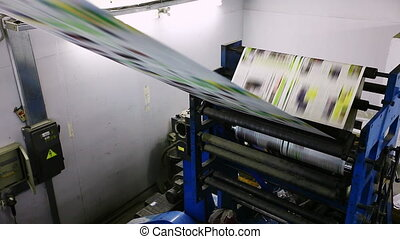 print press typoghraphy machine in work