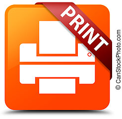 Print (printer icon) orange square button red ribbon in corner