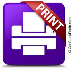 Print (printer icon) purple square button red ribbon in corner