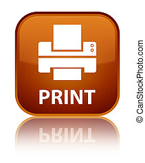 Print (printer icon) special brown square button