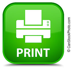 Print (printer icon) special green square button