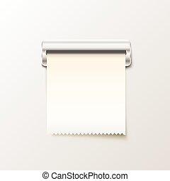 Print receipt cash on white background.
