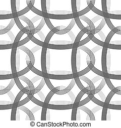 Print - Retro ellipses seamless pattern with transparency...