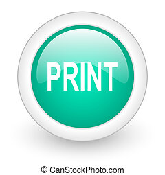 print round glossy web icon on white background