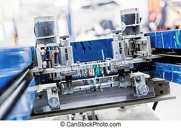 Print screening metal machine.