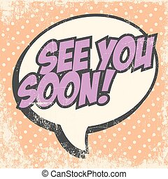 Print - see you soon, illustration in vector format