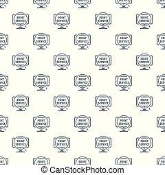 Print service pattern vector seamless