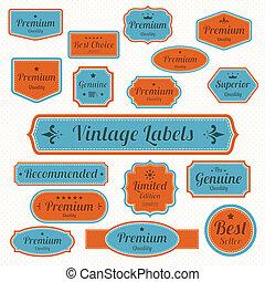 Print - Set of  retro vintage badges and labels.eps10