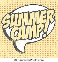 Print - summer camp background, illustration in vector...