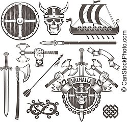 Print - The coat of arms of the Vikings. Coat of Valhalla. ...