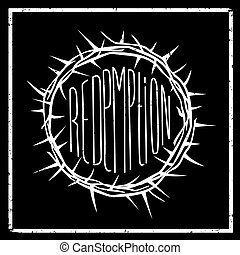 Print the crown of redemption - Print poster or icon sticker...