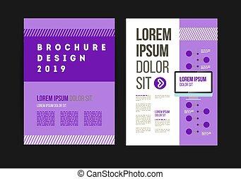 Print - Vector brochure template design for company