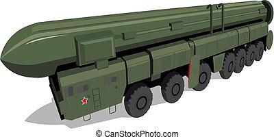 Print - Russian mobile ballistic missile system 'Poplar'...