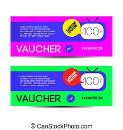 Print - Voucher gift for shop with offer vector template
