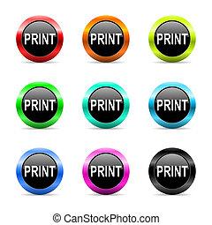 print web icons set