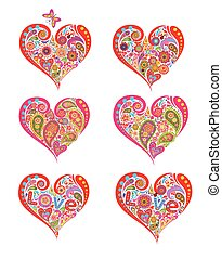 Print with hearts