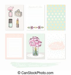 Printable cute set of filler cards